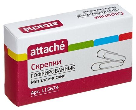 Скрепки Attache, 50 мм ,гофрированные без.покрытия 50 шт.в карт.уп  Attache
