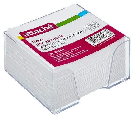 Блок-кубик Attache в стакане 9х9х5 белый блок 80 г, 92% Attache