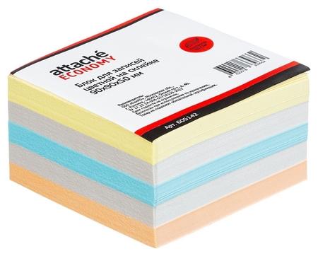 Блок-кубик Attache эконом на склейке 9х9х5 цветной 60-80 г  Attache