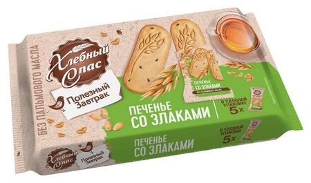Печенье хлебный спас полезный завтрак со злаками, 160г  Хлебный спас