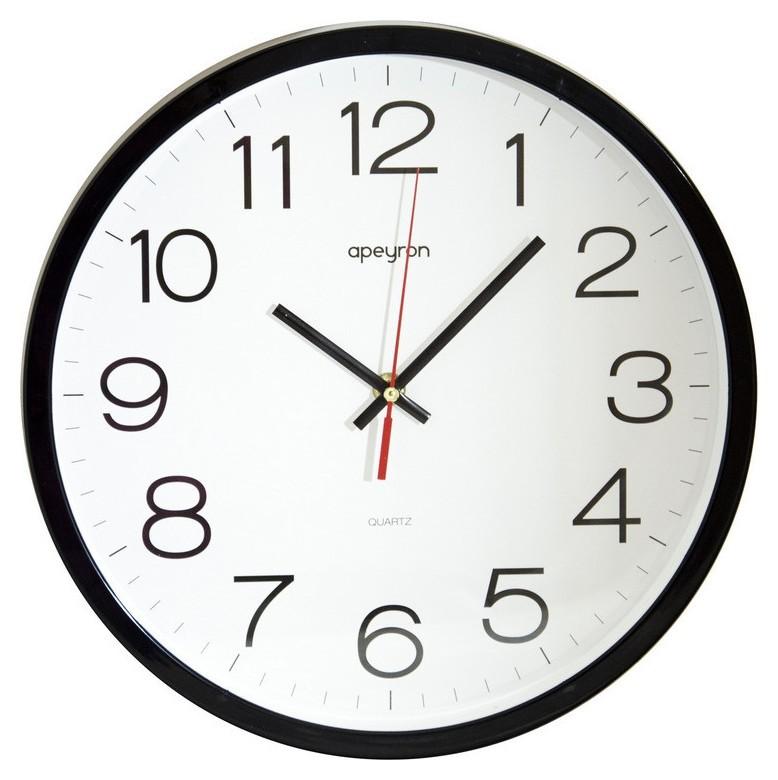 Часы настенные офис, 30см., черн., пластик Apeyron PL 1712 502  Apeyron