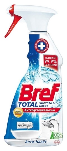 Средство для сантехники Bref Total антибактериальный, 500 мл Bref