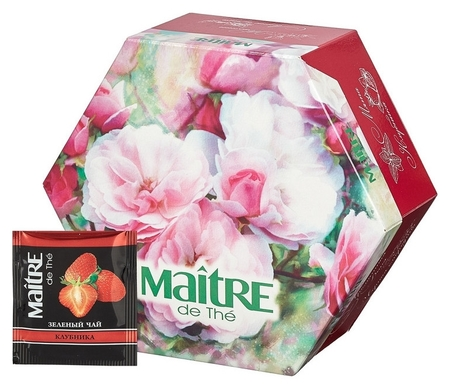 Чай Maitre De The цветы 12 вкусов 60 пак./уп  Maitre