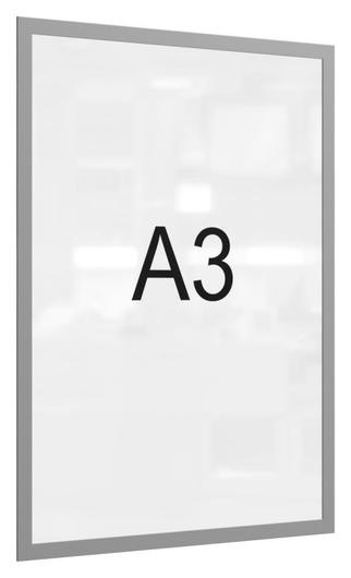 Рамка магнитная настенная Attache А3 пэт, серая, 5 шт/уп  Attache