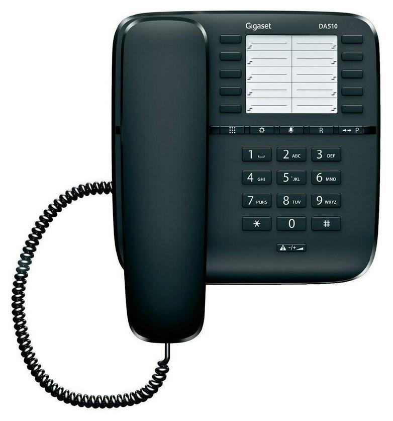 Телефон проводной Gigaset Da510 черный  Gigaset