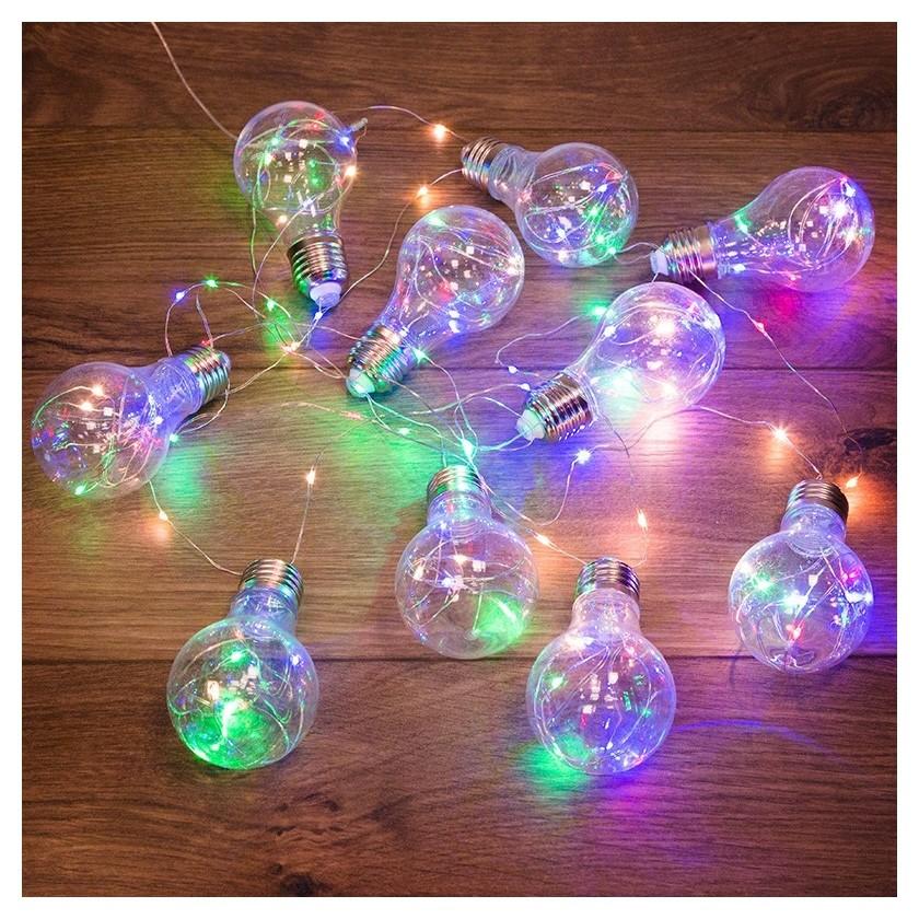 Гирлянда светодиодная ретро-лампы, 3 м, мультиколор 303-079  Neon-Night