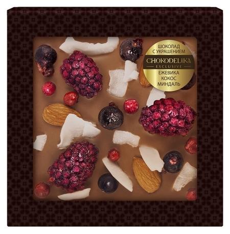 Шоколад ежевика, кокос, миндаль 75 г  Chokodelika