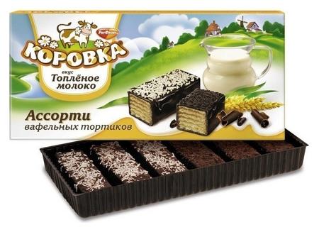Торт коровка вафельный топленное молоко 200г  Коровка