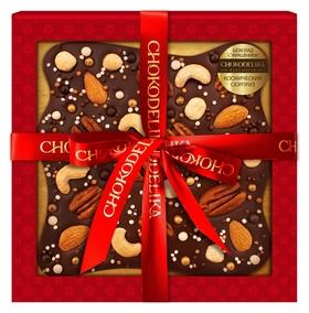 Подарочный набор шоколад горький с украшениемкосмический сюрприз180 г  Chokodelika