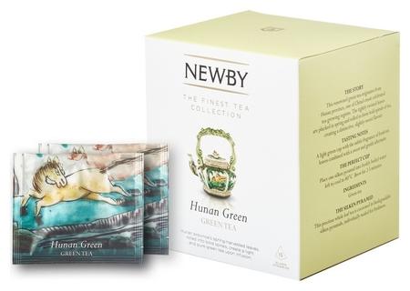 Чай Newby хунан грин зеленый 15 пирамидок  Newby