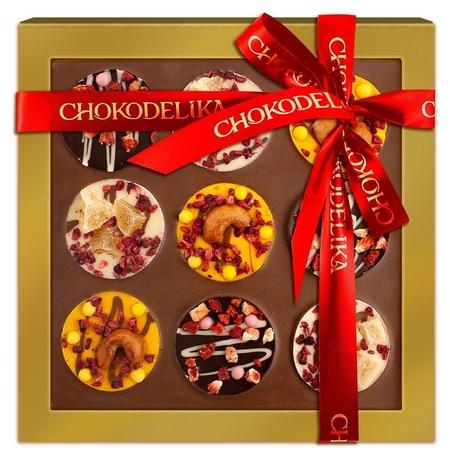 Шоколад с украшением В ритме чоко Вес 220 г Chokodelika