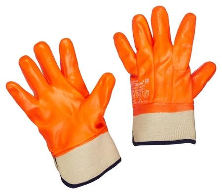 Перчатки защитные нефтеморозостойкие ПВХ утепленные р-р 10 манжет крага  NNB