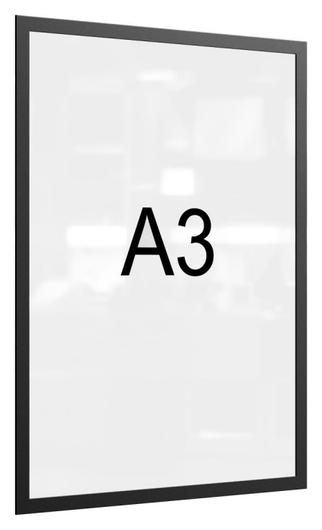 Рамка магнитная настенная Attache А3 пэт, черная, 5 шт/уп  Attache