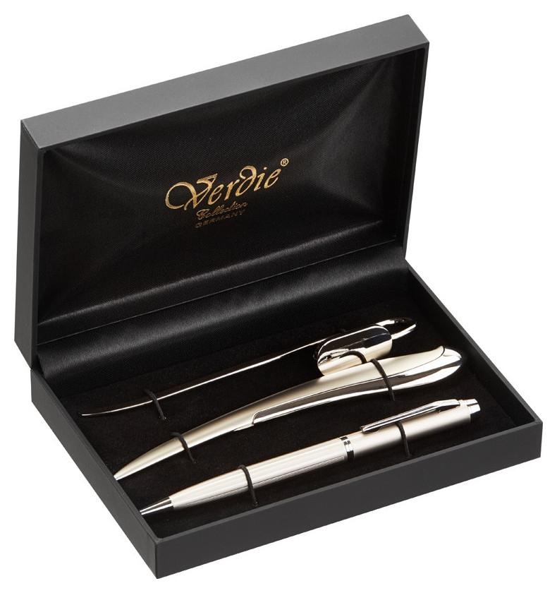Набор пишущих принадл. ручка + закладка + нож для бумаги Ve-21s  Verdie