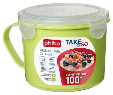 Контейнер -кружка для холодильника и СВЧ Take&go 0,85л (4332131)  Phibo