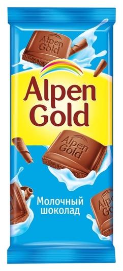 Шоколад Alpen Gold молочный, 85 г  Alpen Gold