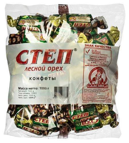 Конфеты степ лесной орех с арахисом и фундуком, 1кг  Славянка