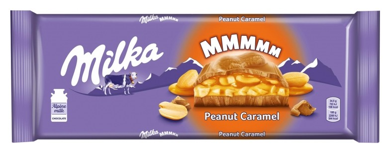 Шоколад Milka молоч. с карамельной нач.арахис и воздушный рис,276г  Milka