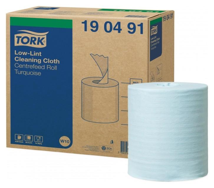 Материал протирочный нетканый Tork W10 см.бл. 1сл 200 л.син.4 рул/уп190491  Tork