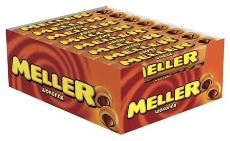 Ирис Meller шоколад 8х24х38г 8200124 (1x24 шт)  Meller