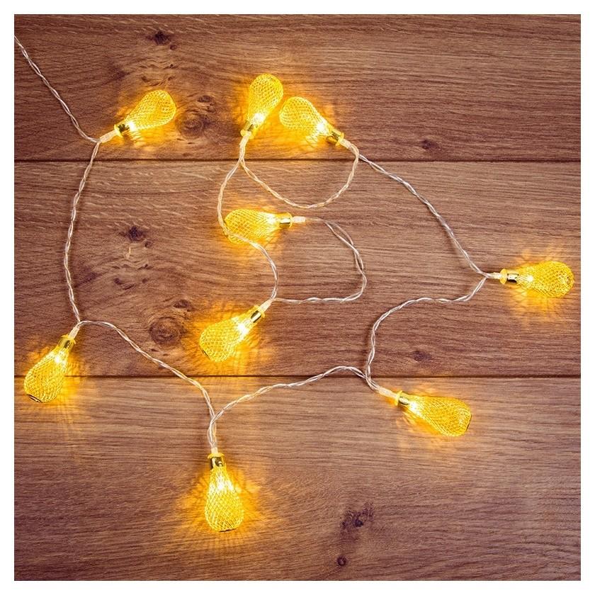 Гирлянда светодиодная восточные фонарики 10желтые 1,5 м,питание2xаа 303-071  Neon-Night