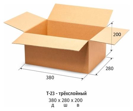 Короб картонный 380x280x200мм, т-23 бурый 10 шт/уп  NNB