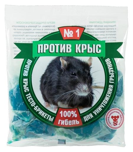 Средство от грызунов против крыс тесто-брикеты 100г пкбтп100 NNB