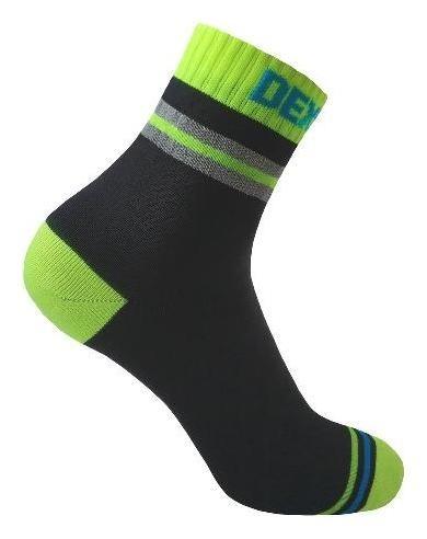 Водонепроницаемые носки Dexshell Pro Visibility Cycling L (43-46) зеленая полоска  Dexshell