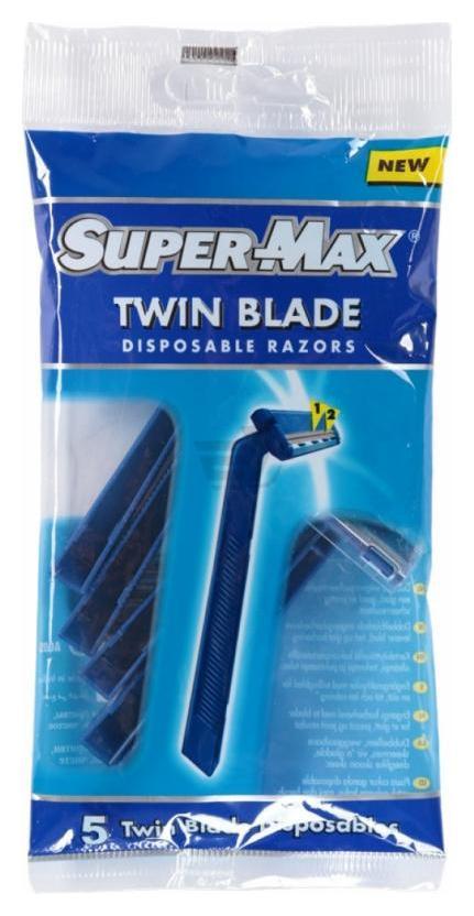 Одноразовые станки с двойным лезвием Twin Blade  Super Max