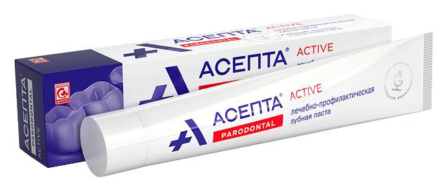 """Зубная паста """"Active"""" Parodontal  Асепта"""