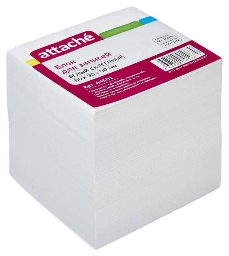 Блок для записей Attache на склейке 9х9х9 белый блок 100 г/92  Attache