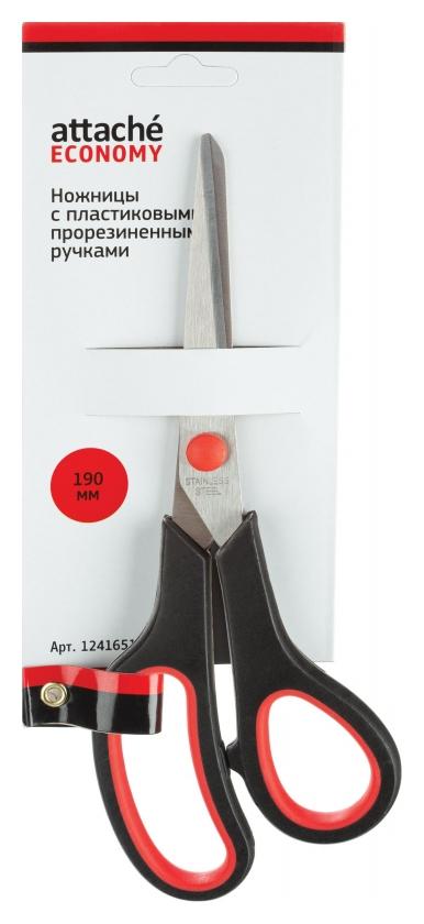Ножницы Attache Economy 190 мм с пласт. прорезин. ручками, цвет крс/черн Attache