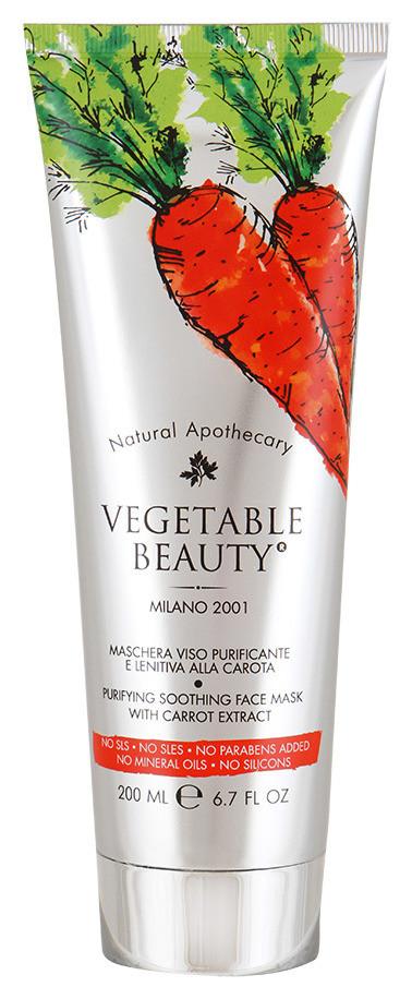 Маска для лица очищающая успокаивающая с экстрактом моркови Vegetable Beauty