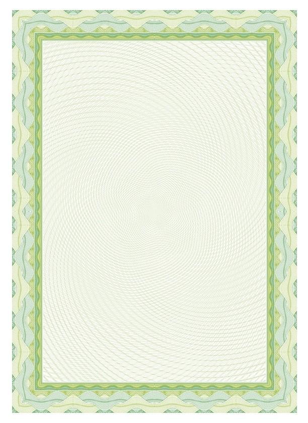Сертификат-бумага Dc-osd4020 зеленый,спираль (А4,115г,уп.25л.)  Decadry