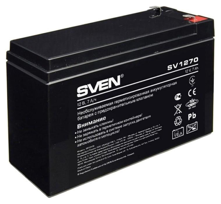 Батарея для ИБП Sven SV 1270 (12v/7ah) аккумуляторная  Sven