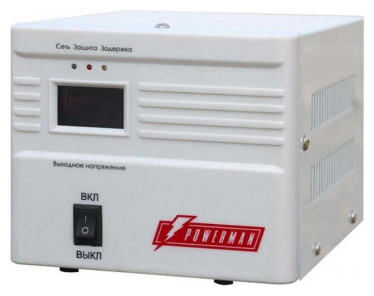 Стабилизатор напряжения Powerman AVS 1000a(1000 ва/550вт/розетки Shuko 1шт)  Powerman