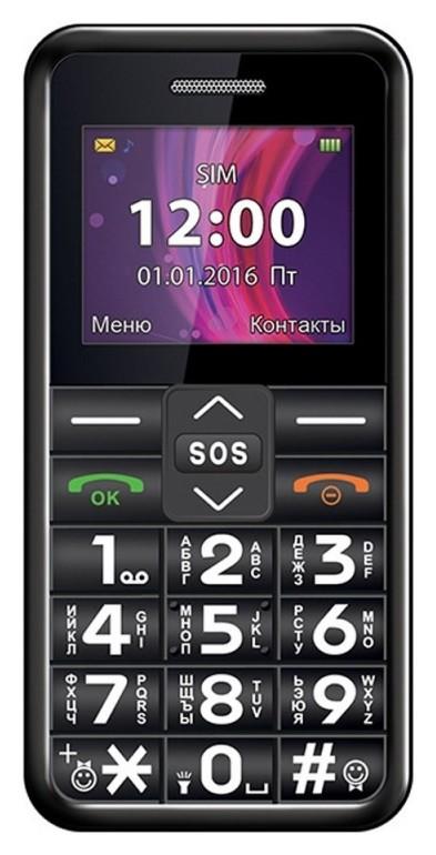 Мобильный телефон Texet Tm-101 черный (Tm-101)  teXet