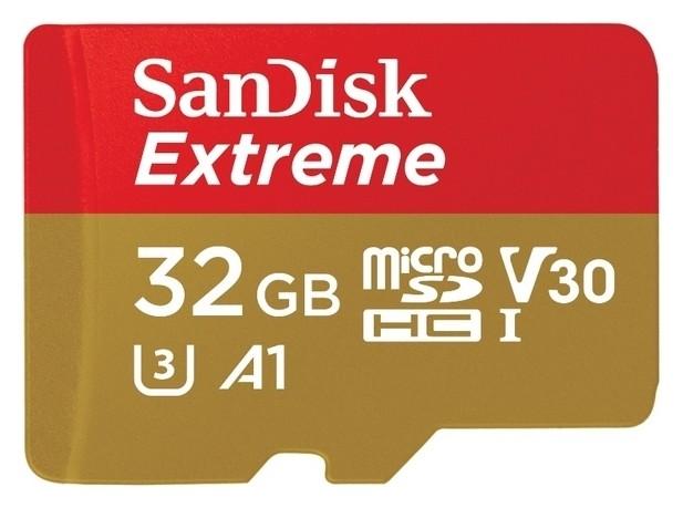 Карта памяти Sandisk Extreme Microsdhc Uhs-i A1 +ад, Sdsqxaf-032g-gn6ma  Sandisk
