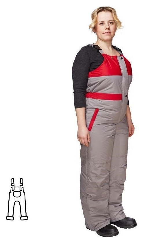 Спец.одежда зимняя полукомбинезон жен. зим. з10-пк (Р.52-54) 158- NNB
