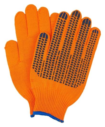 Перчатки двухслойные 10 класс плотные оранжевые индля уп  NNB