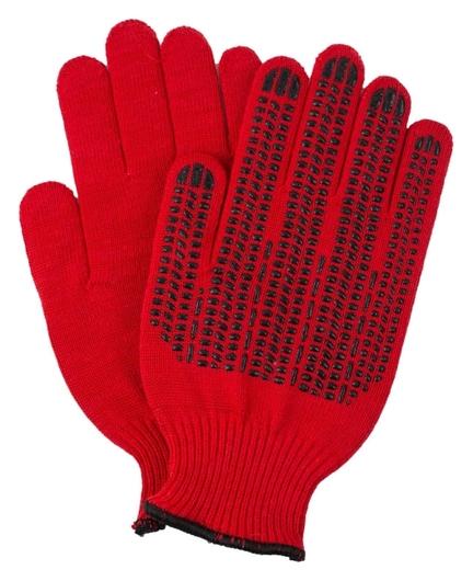 Перчатки двухслойные 10 класс плотные красные индля уп  NNB