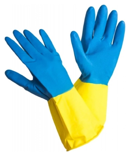 Перчатки хозяйственные Bicolor 2-х цветные, р. L  NNB