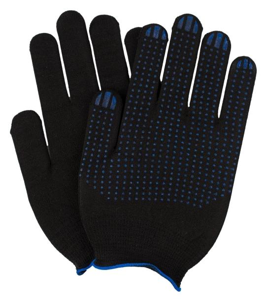 Перчатки нейлоновые 15 класс с ПВХ размер 8-9 10 пар/уп NNB