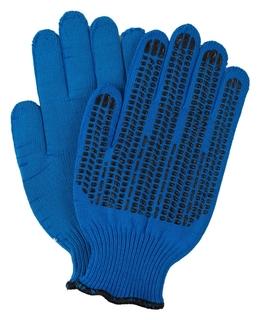 Перчатки двухслойные 10 класс плотные синие индля уп  NNB