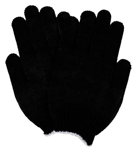 Перчатки защитные трикотажные эконом 3 нити 7,5класс черн без ПВХ 300пар/уп  NNB