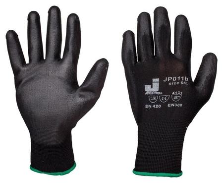 Перчатки защитные нейлоновые с п/у покр. Jetasafetyjp011b черн р.м, 12 п/уп  Jeta Safety