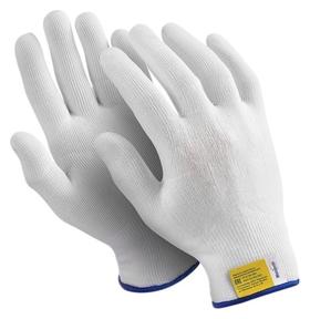 Перчатки защитные нейлон Manipula микрон (Tny-24/mg101) белые 10 пар/уп р9  Manipula