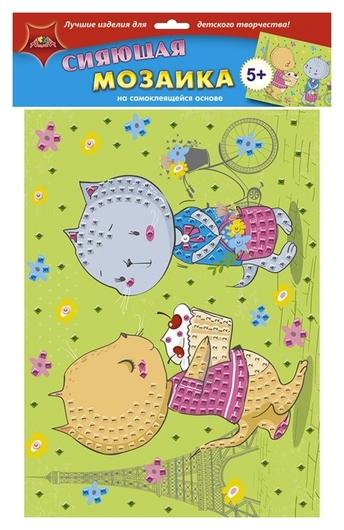 Мозаика самокл. сияющая из мягк. пласт. А3 подружки с2258-24  Апплика