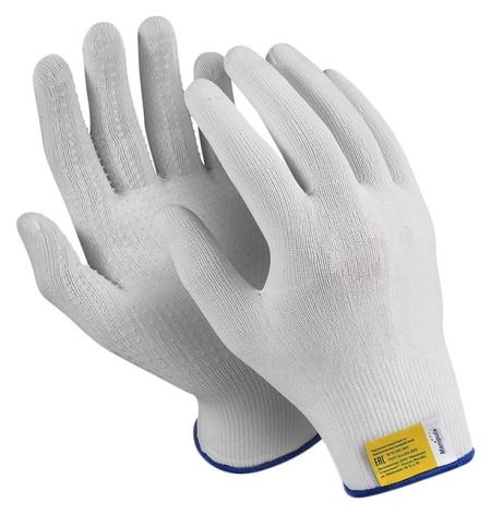 Перчатки защитные нейлон/пвх Manipula микрон (Tng-27/mg111) бел 10 п/уп р7 Manipula