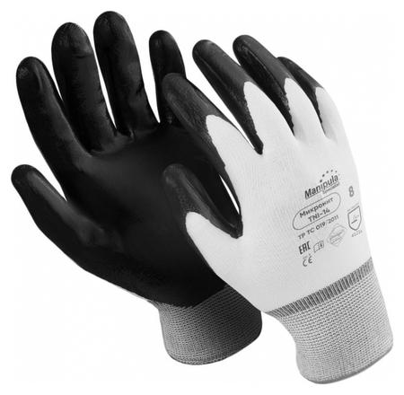 Перчатки защитные нейлон/нитрил Manipula микронит (Tni-14/mg121) р.8  Manipula